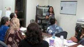 parenting class with teacher