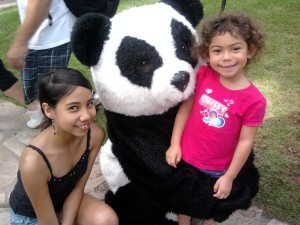 Anu & Geli with Panda