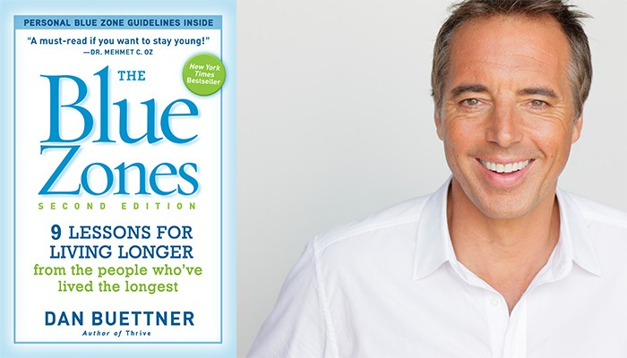 Dan Buettner Blue Zones Book & Headshot