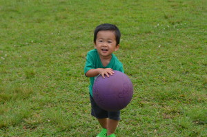 Little One with Kickball